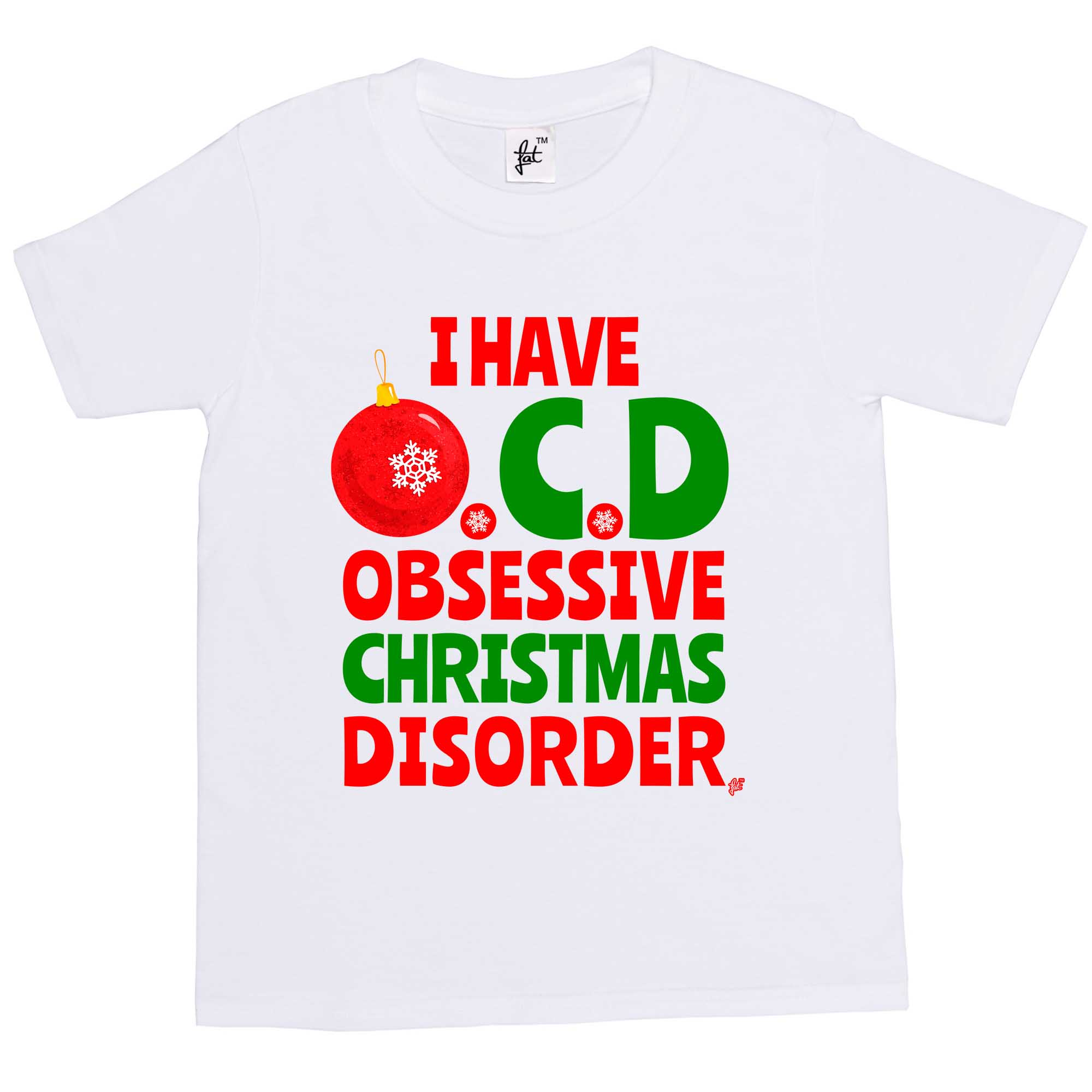 I Have OCD Obsessive Christmas Disorder Funny Kids Boys / Girls T ...