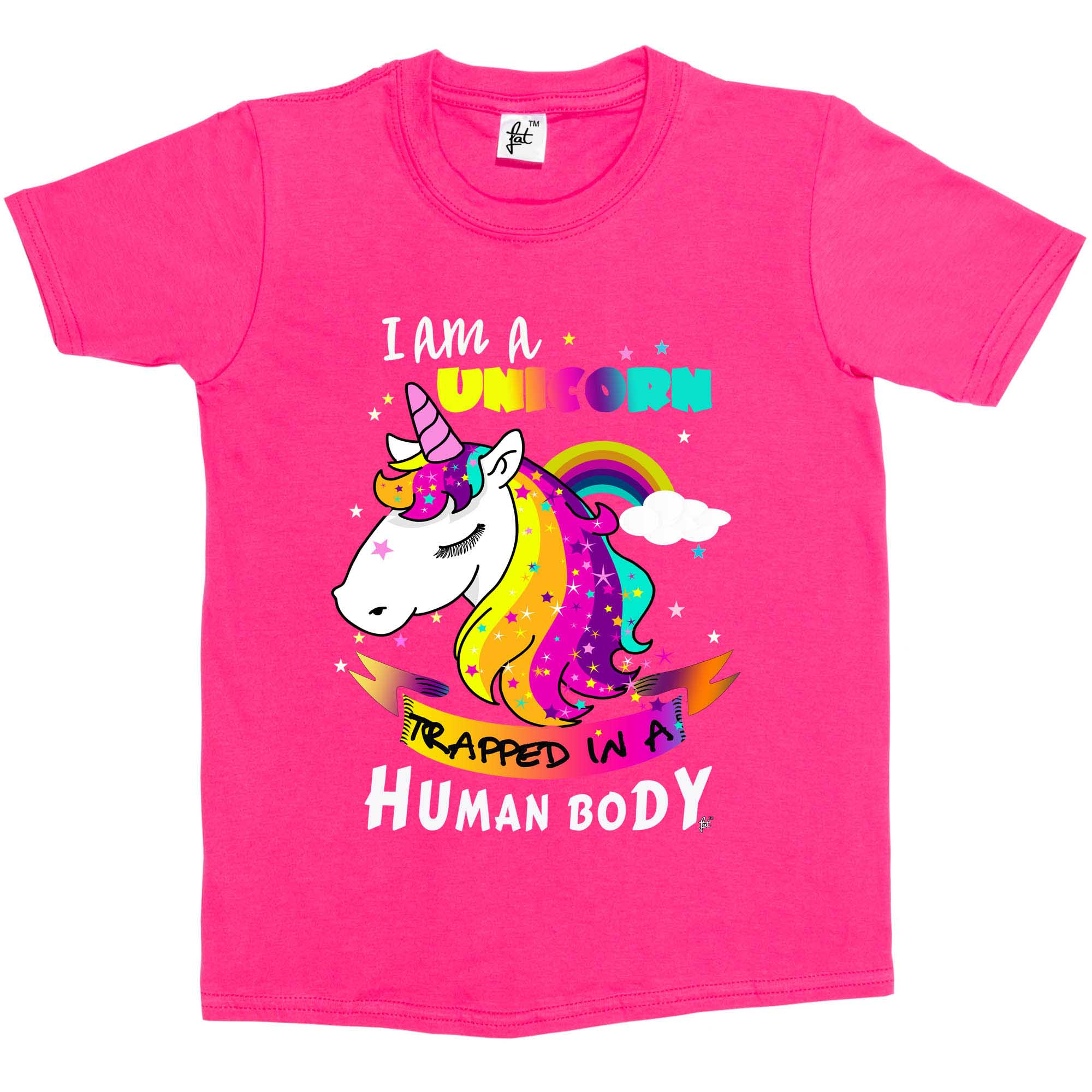 I Am A Unicorn Trapped In A Human Body Kids Girls T Shirt