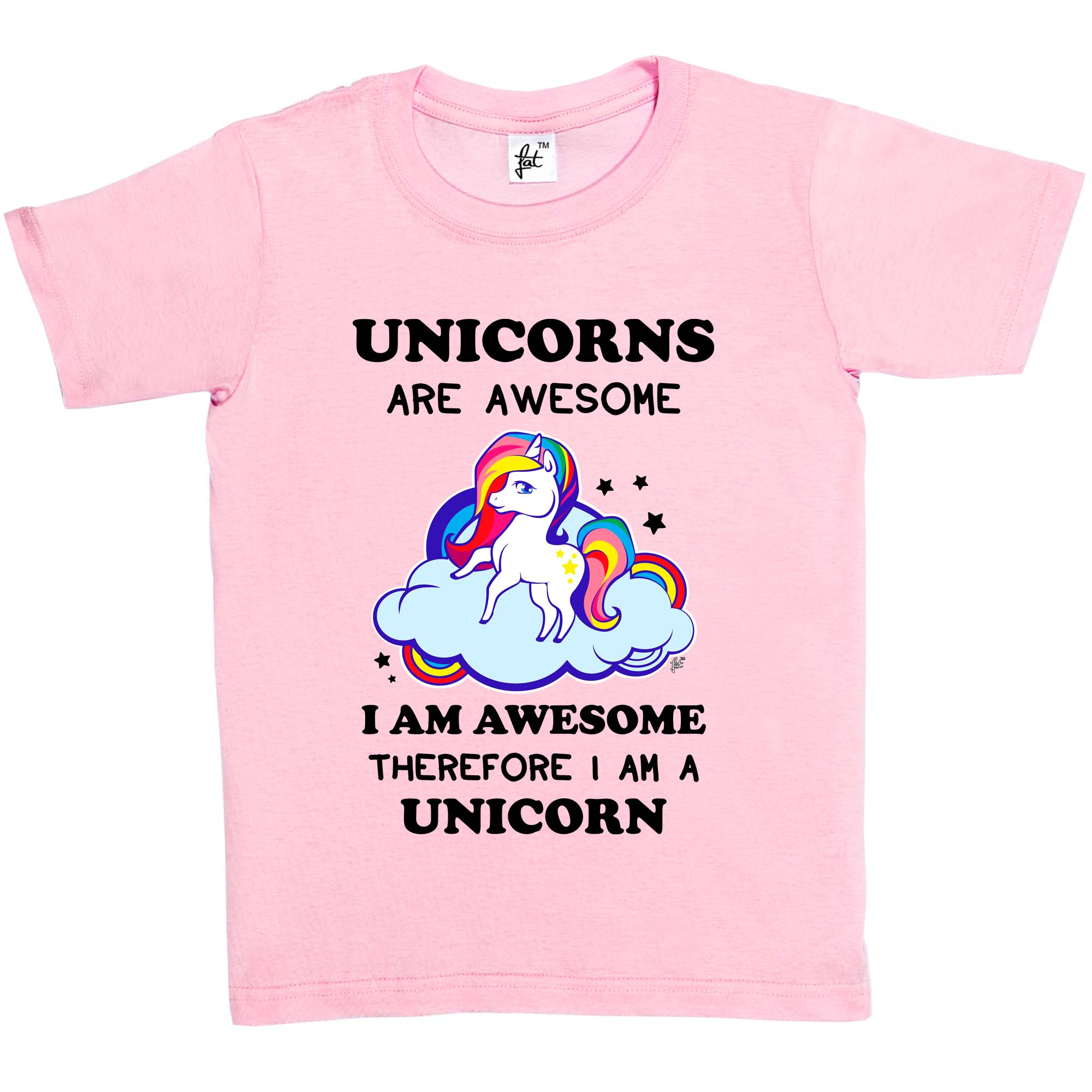 unicorns are awesome so am i therefore i 39 m a unicorn kids girls t shirt ebay. Black Bedroom Furniture Sets. Home Design Ideas
